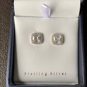 Jewelry - HOST PICK Sterling Silver White Topaz Earrings